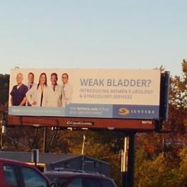 Sentara Weak Bladder Billboard